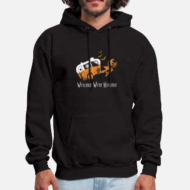 witches with hitches pumpkins moon festival octobe - Men's Hoodie