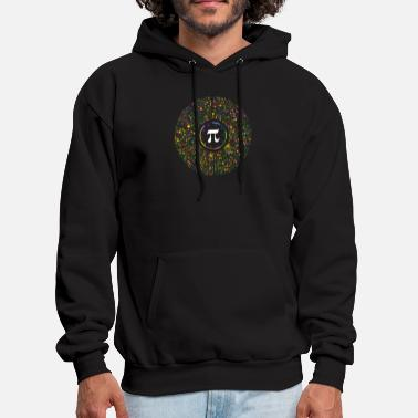 Pi Day The Beauty of Pi Circular RainbowHued Spirograph - Men's Hoodie