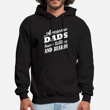 5f0428bd8 Awesome Funny Tattoo - Awesome Dads Have Tattoos And Bea - Men's. Men's  Hoodie