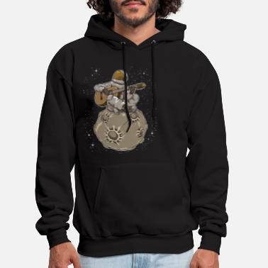 Guitars Astronaut Playing Guitar | Galaxy Milky Way Space - Men's Hoodie