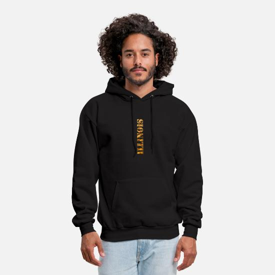 Illinois Hoodies & Sweatshirts - Illinois Constitution Design - Men's Hoodie black
