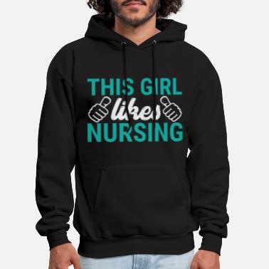 Medical Student This Girl Likes Nursing T-Shirts - Men's Hoodie