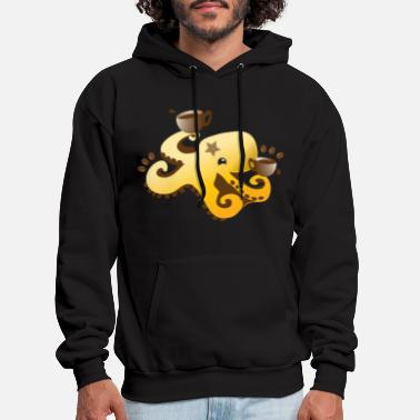 Bean octopus coffee barista with coffee beans - Men's Hoodie