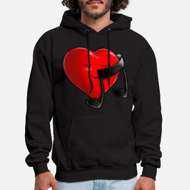 Good Music is Good for the Heart - Men's Hoodie