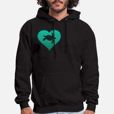 Mens Sea Toned Mandala Long Sleeve Hooded Sweatshirt Fashion Black