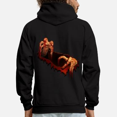 Ghost Zombie Gifts Gory Halloween Scary Zombie Hands - Men's Hoodie