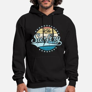 Kitesurfing Vintage Sun - Distressed Design Shirt - Men's Hoodie