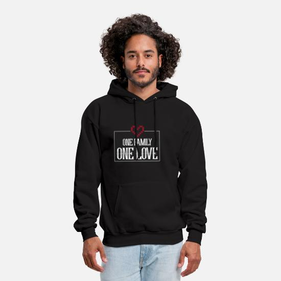 Family Party Hoodies & Sweatshirts - Family Love And Affection Gift ideaT-Shirts - Men's Hoodie black