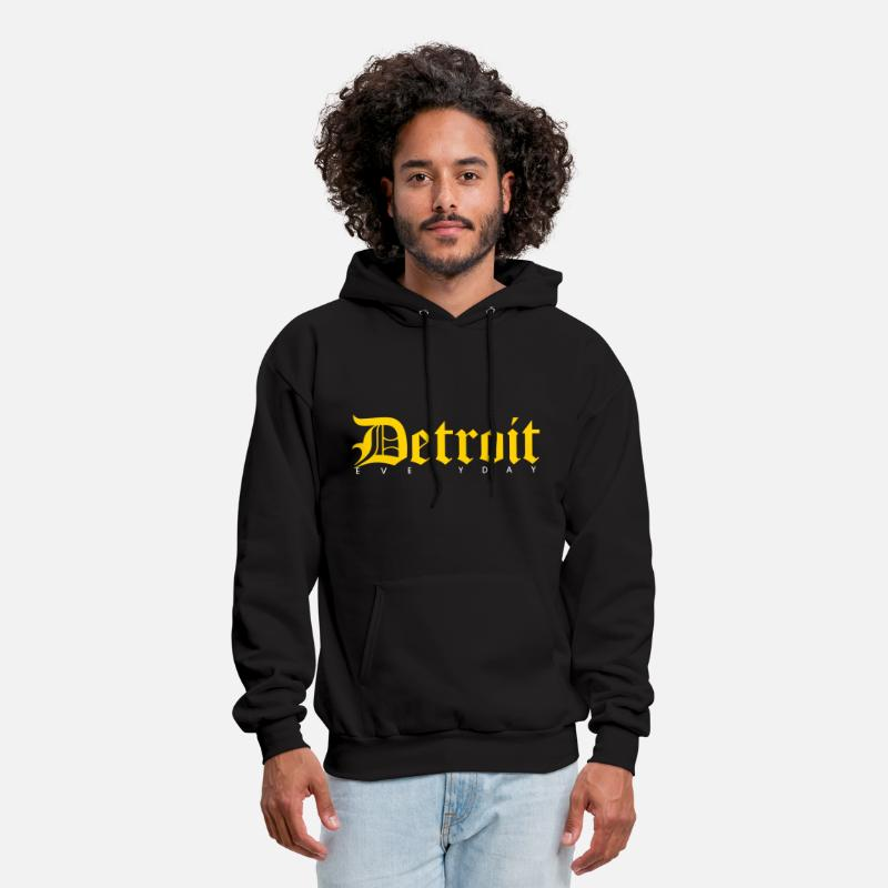Cool Hoodies & Sweatshirts - Detroit - Men's Hoodie black