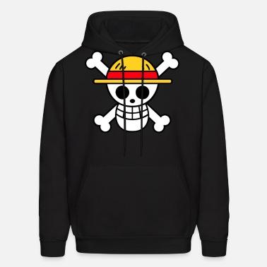 One Piece Strawhat Pirate Flag Luffy Skull Hoodie Pullover SweatShirt Camouflage