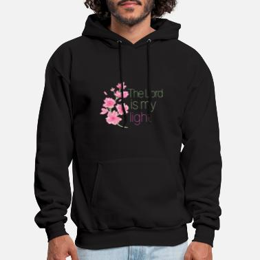 Healing The Lord is My Light Faith Love Spiritual Positive - Men's Hoodie