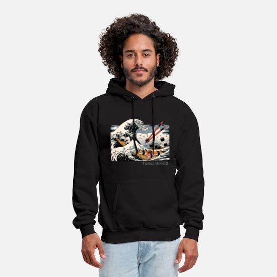 Japanese Hoodies & Sweatshirts - sushis food japan - Men's Hoodie black