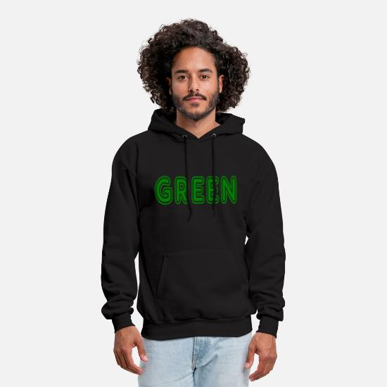 Lettering Hoodies & Sweatshirts - green text design gruen verde vert groen zielony - Men's Hoodie black
