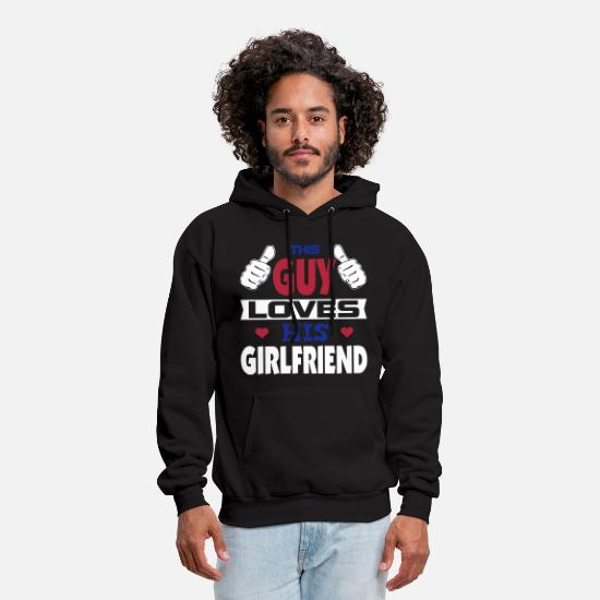 Valentine's Day Hoodies & Sweatshirts - This Guy Loves His Girlfriend - Men's Hoodie black