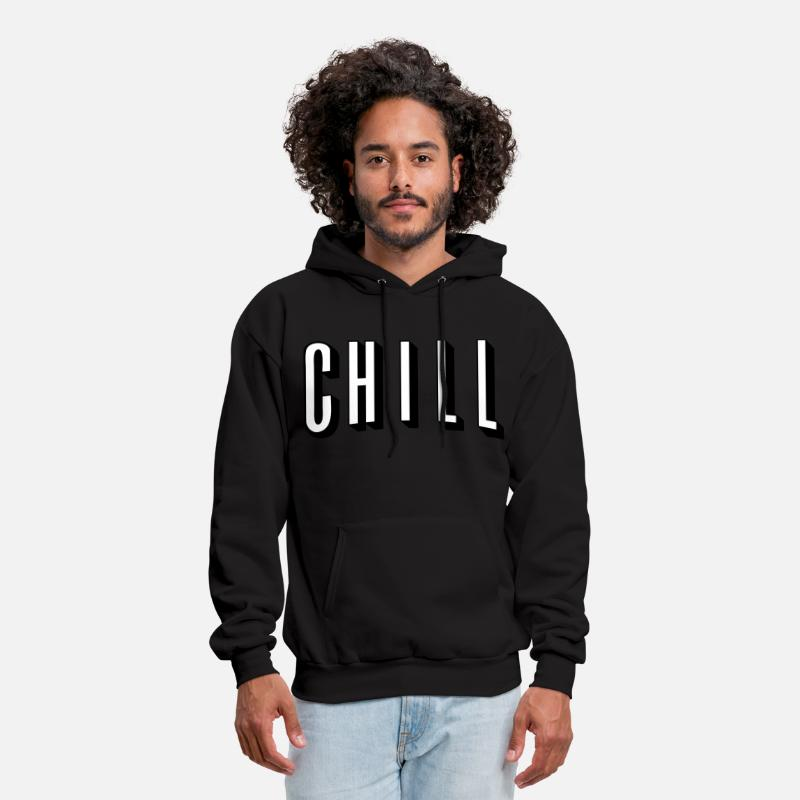 Netflix And Chill 2 Toned Mens Hoodie