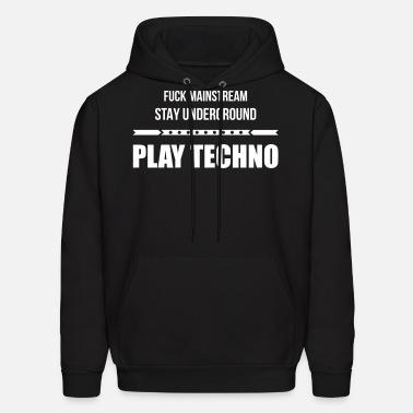Fuck Mainstream Techno Underground Club Dj Party Unisex Jersey T