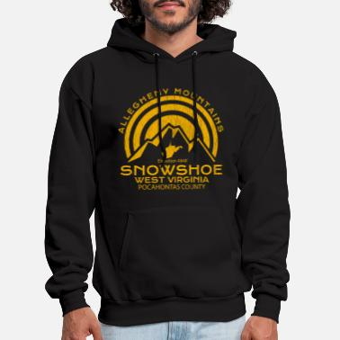 West Virginia Snowshoe West Virginia Mountain - Men's Hoodie