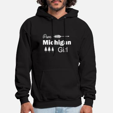 Pure Pure Michigan Girl Arrow and Trees - Men's Hoodie