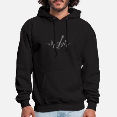 Guitarist Acoustic Guitar Heartbeat Cool Gift for Guitarist - Men's Hoodie