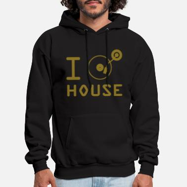 Music I play House Music / I love House Music / I heart - Men's Hoodie