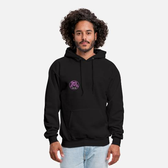 Love Hoodies & Sweatshirts - Love You Hearts - Men's Hoodie black