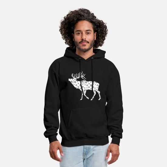 Winter Hoodies & Sweatshirts - WINTER MOOSE - Men's Hoodie black