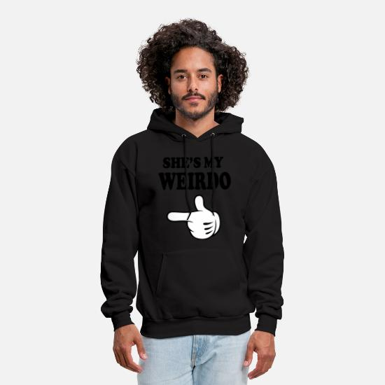 Love Hoodies & Sweatshirts - shes my weirdo - Men's Hoodie black