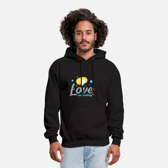 Affection Hoodies & Sweatshirts - Car wash hobby love affection sponge washing - Men's Hoodie black