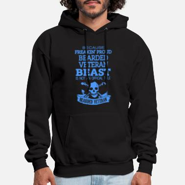 Infantry Bearded Veteran - Men's Hoodie