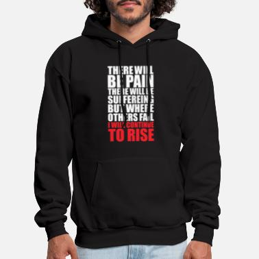 Gun Logo THERE WILL BE PAIN QUOTE COOL LOGO FUNNY - Men's Hoodie