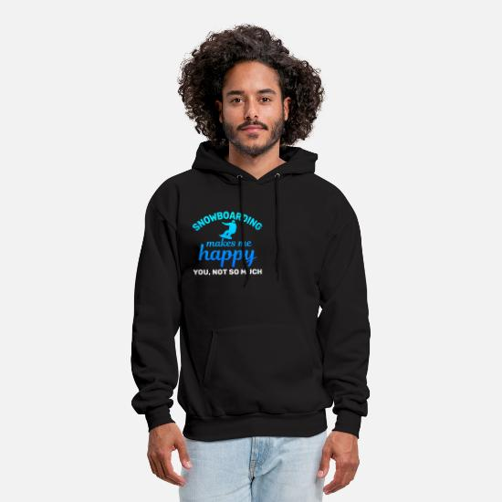 Vacation Hoodies & Sweatshirts - Snowboarding Winter Vacation - Men's Hoodie black