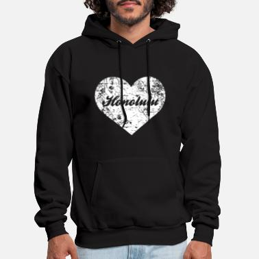 Hometown i love honolulu funny cute hawaii hometown hawaii - Men's Hoodie