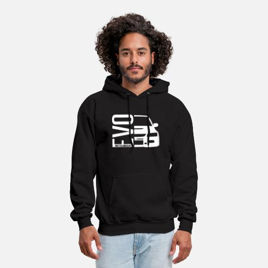 Car Hoodies & Sweatshirts - Evo Mitsubishi 8 9 10 VIII Evolution Hoodie Car Ra - Men's Hoodie black