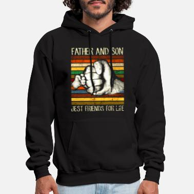 father and son best friend for life color family h - Men's Hoodie