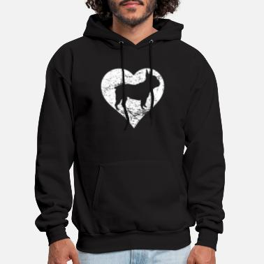 Distressed French Bulldog Heart Dog Owner Graphic - Men's Hoodie