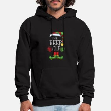 The Beer Elf Group Matching Family Christmas - Men's Hoodie