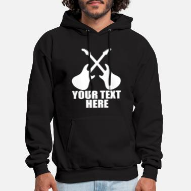 Crossed Guitar gig concert tour band festival cust - Men's Hoodie