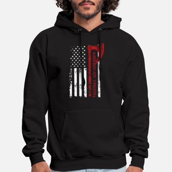 American Viking Victory Or Valhalla Usa Flag Hanes Men S Hoodie Spreadshirt