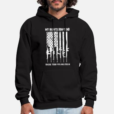 Gun Rights my rights don t end where your feelings begin gun - Men's Hoodie