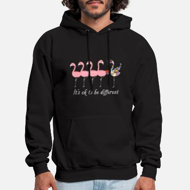 Different it is ok to be different aimals heart pink bird au - Men's Hoodie