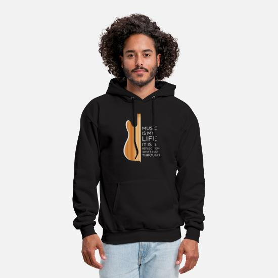 Reflective Hoodies & Sweatshirts - Music is my life it's a reflection - Men's Hoodie black