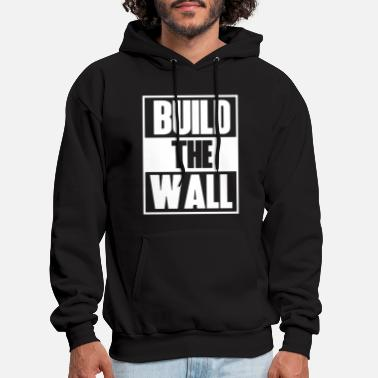 Donald Gump Build The Wall Political Tee Donald Trump Presiden - Men's Hoodie