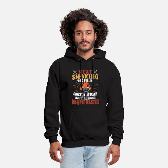 Rub Hoodies & Sweatshirts - meat smoking pork pulling chicken jerking butt rub - Men's Hoodie black