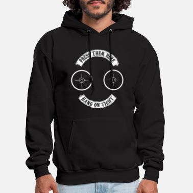 press them here hang on tight hipster - Men's Hoodie