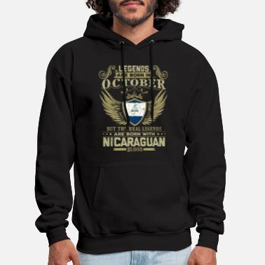 Legends Are Born In October legends are born in october but the real legends a - Men's Hoodie