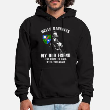 Darkness hello darkness my old friend i have come to talk w - Men's Hoodie