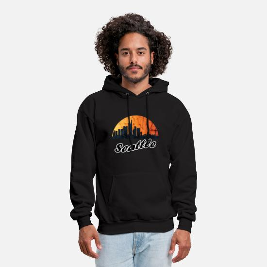 Seattle Hoodies & Sweatshirts - Seattle - Men's Hoodie black
