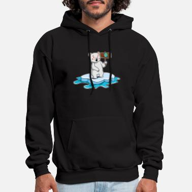 Planet Earth Save the polar bears - Planet Earth gift idea - Men's Hoodie
