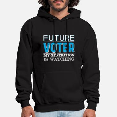 Political Future Voter design for political Kids & Teens - Men's Hoodie