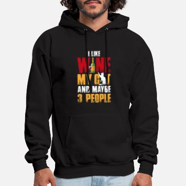 I Like Wine My Cat and Maybe 3 People T Shirt - Men's Hoodie
